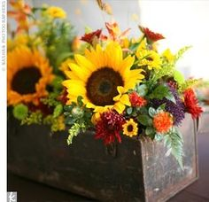 sunflower and babys breath bouquet - Google Search