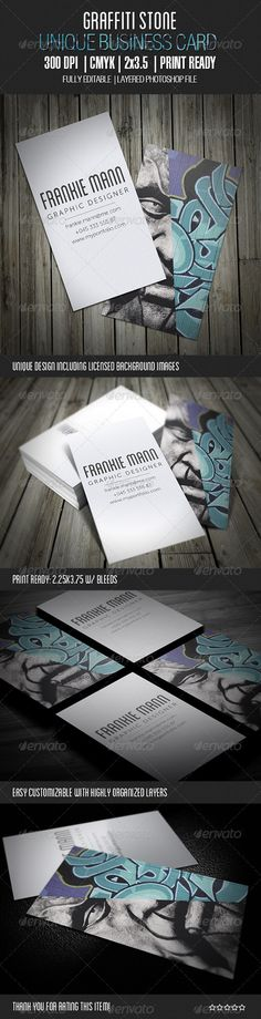 Graffiti Stone Business Card - GraphicRiver Item for Sale