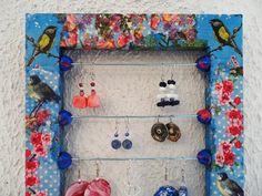 Porte bijoux mural  style romantique et naïf
