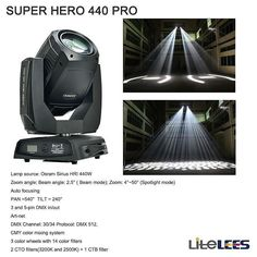 LiteLEES Super Hero 440W Auto focus when zooming CMY art-net... #lightingtech #lightingtechnician #stagehand #mythos #lightingdesign #lightingdesigner