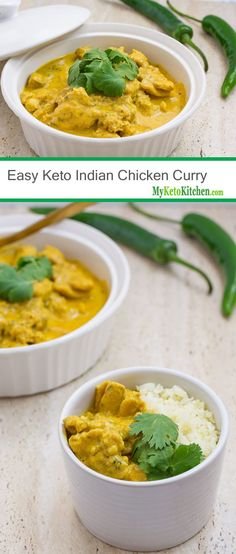 Easy Keto Indian Chicken Curry (Low Carb, Gluten Free, Grain Free)