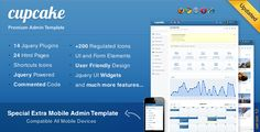 CupCake html 5 admin template. Very nice and easy to use. support for ipad, iphone & android