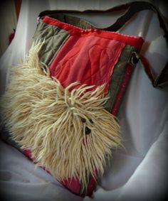 ebbc8b3cae Handmade by Judy Majoros -Faux fur Hungarian Puli dog crossbody bag.  Quilted Recycled bag