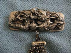 明治期の銀金具提げ物