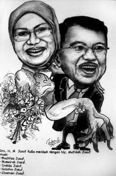 karikatur online, jasa karikatur lucu, wedding caricature