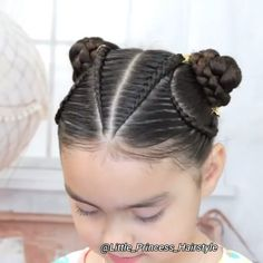 Baby Girl Hairstyles, Princess Hairstyles, Pretty Hairstyles, Kids Curly Hairstyles, Weave Ponytail Hairstyles, Girl Hair Dos, Hair Up Styles, Braids For Long Hair, Tight Braids