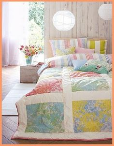 Big quilt blocks.  I could probably get this done!