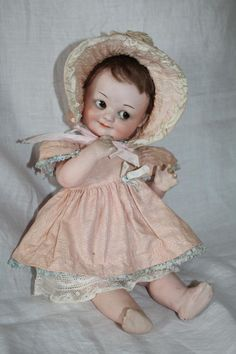 Beautiful Antique bisque headed Googly Armand Marseille 323 doll Darling!