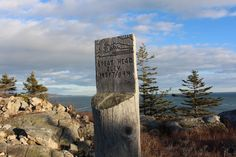 The summit sign of Great Head.| Acadia National Park Vacation note for this summer!