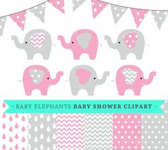 Premium baby shower vector clipart - Baby elephants - pink and grey baby shower - clip art and digital paper set - baby elephant clipart #BabyScrapbookIdeas #BabyScrapbook #BabyGirl #DigitalPaper #ScrapbookPaper baby shower clipart baby girl baby elephant vector vector baby shower vector design pack vector baby elements baby room decor baby design kit baby stationery baby girl vectors baby vector elephant pink vector clipart baby girl invite 5.00 USD