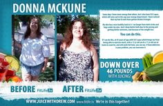 Donna Faced Her Health in Juicing, Lost 46 Lb and Counting
