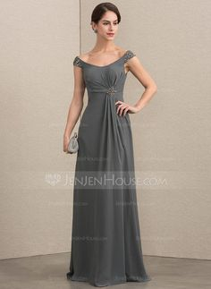 7997c4545c A-Line Princess Off-the-Shoulder Floor-Length Chiffon Mother of