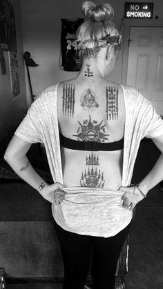 Sak yants on my back ✌