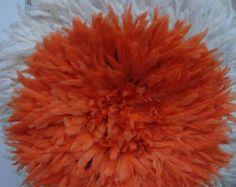 "Authentic 21/"" Quality Tangerine 1st African /""Sale/"" Headdress Juju Hat"
