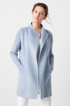 2b137e14 This rib sleeve jacket from Kinross Cashmere is the perfect way to add a  soft and