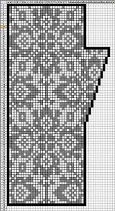 Fair Isle knitting chart - could be use for filet crochet or cross stitch Filet Crochet, Crochet Mittens, Mittens Pattern, Knitted Gloves, Crochet Granny, Punto Fair Isle, Motif Fair Isle, Fair Isle Chart, Fair Isle Pattern