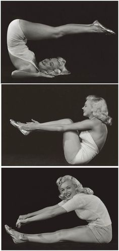 Marylin Monroe doing yoga!  See it's been popular all this time!