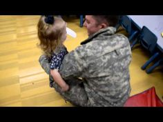 U.S. Soldier Surprises 2-Year-Old Daughter at School.  This is an awesome video.  It is great when soldiers can come home.  Welcome Home soldier.