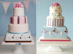 Bunting wedding cakes by Rachelle's Cakes UK