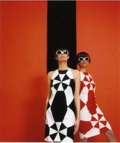 red and black GEOMETRIC 1960s