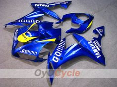 * Item Number: * Fairing Style: GO! * Fairing Color: Blue * Fairing Material: High Grade ABS Plastic * Molds: Injection molds * Brand and Model: Yamaha * Fairing Fits Years: Blue Motorcycle, Yamaha Yzf R1, Go Blue, Plastic Molds, Motorcycle Parts And Accessories, Carbon Fiber, Abs, Yellow, Color