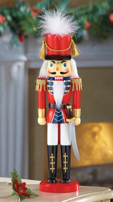"15"" Collectible Standing Wooden Nutcracker"