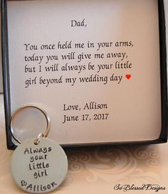Father of the Bride keychain Father of the Bride Gift from the To .- Vater des Braut keychain Vater des Brautgeschenks von der Tochter immer Ihr klei Father of the bride keychain Father of the bride gift from the daughter always your klei - Unique Gifts For Dad, Wedding Gifts For Parents, Gifts For Wedding Party, Gifts For Father, On Your Wedding Day, Gifts For Mom, Perfect Wedding, Dream Wedding, Bridal Parties