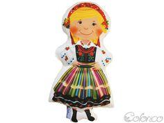 Poduszka lala - Łowiczanka (proj. Colorico), do kupienia w DecoBazaar.com