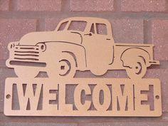 Vintage camionnette signe bienvenu classique Dodge par artbyjack