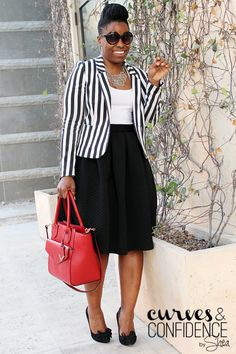 Black Quilted Midi Skirt | Blazer - HM | Skirt - F21 | Purse - The Limited | Shoes - Betsey Johnson |
