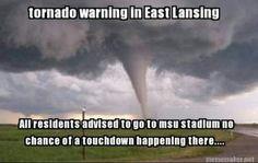 Tornado season is around the corner. Be prepared before disaster strikes with satellite phone rentals from Satmodo. U Of M Football, Michigan Wolverines Football, Packers Football, Michigan State University, Tornados, Michigan Go Blue, Tornado Warning, East Lansing, World Of Sports