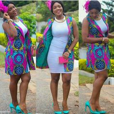 Top Ten Unique Ankara Styles Jacket You Should Try Dabonke African Print Dresses, African Fashion Dresses, African Attire, African Wear, African Women, African Dress, African Prints, African Clothes, African Inspired Fashion