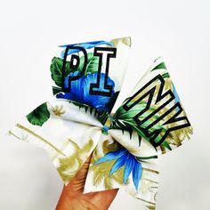 Tropical PINK Fabric Hawaiian Cheer Bow