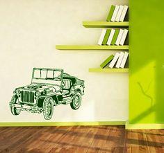 Jeep Willys MB US Army Vinilo decorativo del mítico Todo Terreno estadounidense de la Segunda Guerra Mundial! A un super-precio de 29 € PVP portes incluidos en península. Wall+Decal+Jeep+Car+50€ #JeepWillysMB #Jeep #SegundaGuerraMundial #WorldWarII #vinilodecorativo #vinilohistorico #Aeromodelismo #Vintage #viniloinfantil