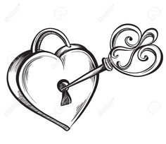 28 Collection Of Lock And Key Clipart Black White