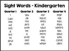 sight word list - Back to School Kindergarten Sight Words List, Learning Sight Words, Kindergarten Curriculum, Kindergarten Readiness, Sight Word Activities, Preschool Learning Activities, List Of Sight Words, Sight Words For Kindergarten, Learning Time