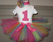 First Birthday Tutu outfit Personalized Set Onsie 1 2 3 4 5 Short or Long Sleeve