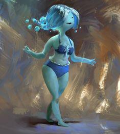 Water Nymph, Adventure time Fanart by MikeAzevedo on deviantART