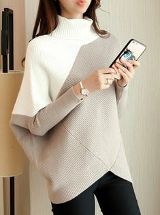 Asymmetrical Batwing Knitted Cardigan