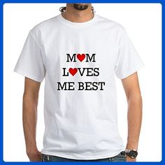CafePress - Mom Loves Me Best T-Shirt - 100% Cotton T-Shirt, White - Relatives and family shirts (*Amazon Partner-Link)