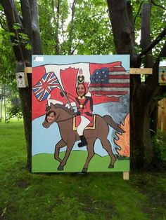 Just unveiled our head-in-hole designed by contest winner Emily Martorana (the soldier) 1812 Tribute