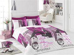 feminine floral butterflies pink paris eiffel tower full cotton bedspread set paris bedding pinterest bedspread paris bedding and room decor
