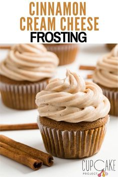 Cinnamon cream cheese frosting is wonderful on so many different cakes and cupcakes. Cream cheese frosting in general is a favorite around here, but the warmth of cinnamon makes it even more special. #Frosting #CreamCheese Cupcake Cream, Cupcakes With Cream Cheese Frosting, Cupcake Frosting, Cinnamon Cream Cheese Frosting, Cinnamon Cream Cheeses, Cupcake Cakes, Poke Cakes, Layer Cakes, Icing Recipe