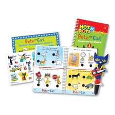 Educational Insights Hot Dots Jr. Pete The Cat Kindergarten Rocks! with Pete Pen