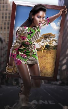 Its African inspired. i LOVE THIS IMAGE! just look at the graphic, the model, the colours and story behind it such an inspiration!