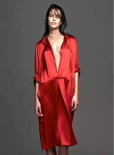 Replace that LBD, with this beautiful red dress // Photo by Ishi for Vogue Netherlands