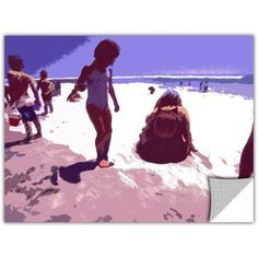 Dean Uhlinger Beach Day Removable Wall Art, Size: 24 x 32, Brown