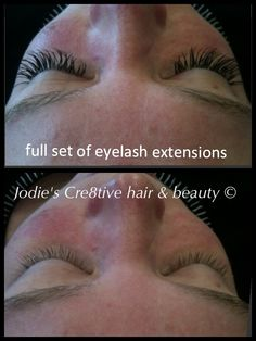 Really, really bad eyelash extensions! (NOT done by me!) I removed ...
