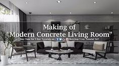 Making of Modern Concrete Living Room _ Time Lapse _