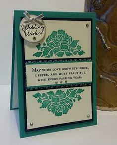 Stampin' Up! Demonstrator stampwithpeg – Wedding Card using Floral Phrases Stamp set. I absolutely adore this stamp set, so I just had to make